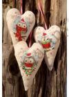 Bagoly - Keresztszemes karácsonyi dekoráció