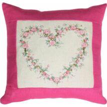 Rózsaszíves- keresztszemes párna készlet