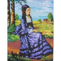 Szinyei Merse Pál - Lilaruhás nő