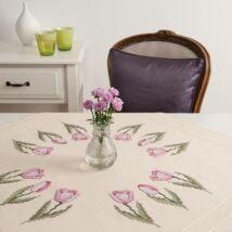 Rico Design előnyomott hímezhető terítő - tulipános