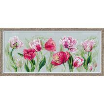 Tavaszi tulipánok - keresztszemes készlet