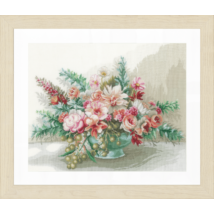 Virágcsokor- leszámolható keresztszemes készlet