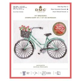 DMC előnyomott hímzőkészlet - bicikli