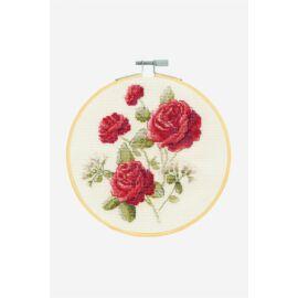 Rózsák - DMC keresztszemes készlet hímzőrámával