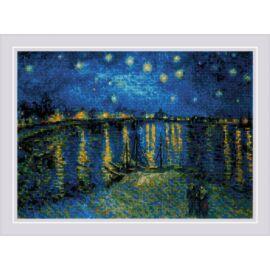 Csillagos éj a Rhone fölött - Riolis keresztszemes készlet