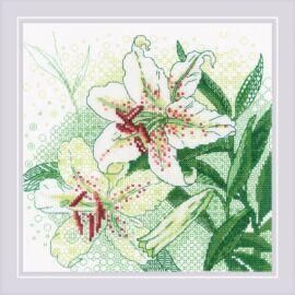 Fehér liliomok - Riolis hímzőkészlet
