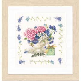 Lanarte keresztszemes készlet - Rózsacsokor