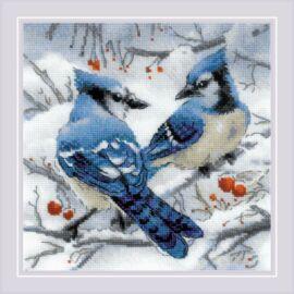 Kék szajkók - Riolis keresztszemes készlet