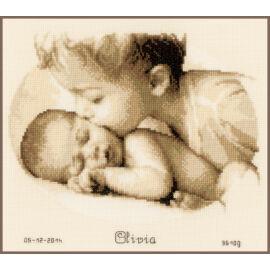 Testvéri szeretet - Vervaco babaköszöntő keresztszemes készlet
