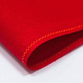 Zweigart karácsonyi piros Aida - 18 ct (110 cm széles)