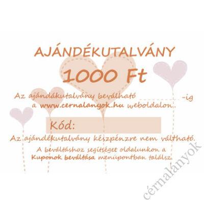 Ajándékutalvány: 1.000 Ft