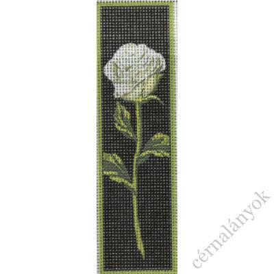 Könyvjelző - Fehér rózsa