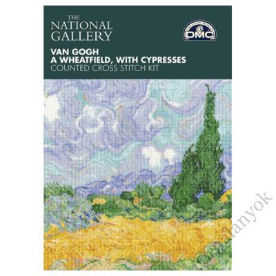 Van Gogh: Búzamező ciprusokkal - keresztszemes készlet
