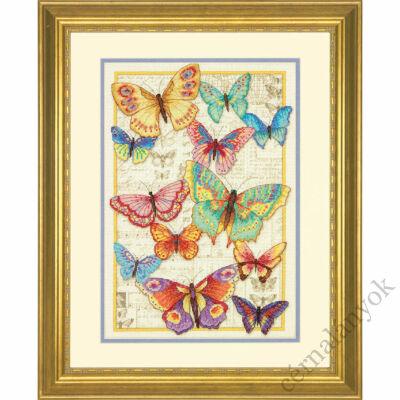 Pillangós szépség - keresztszemes készlet