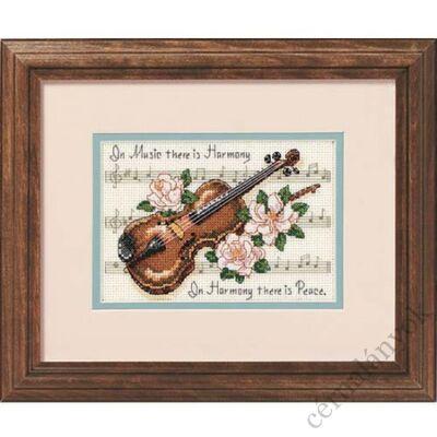 A zene harmónia - keresztszemes készlet