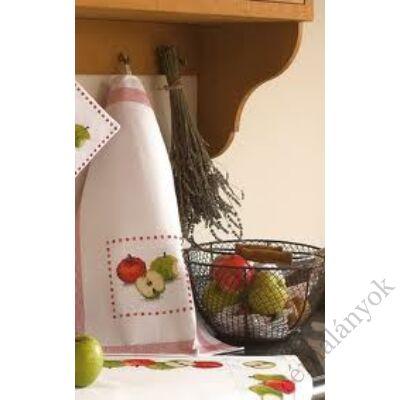Hímezhető kéztörlő - almás