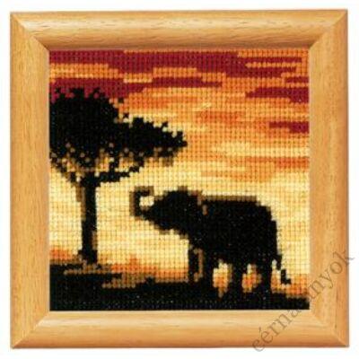 Elefánt naplementében