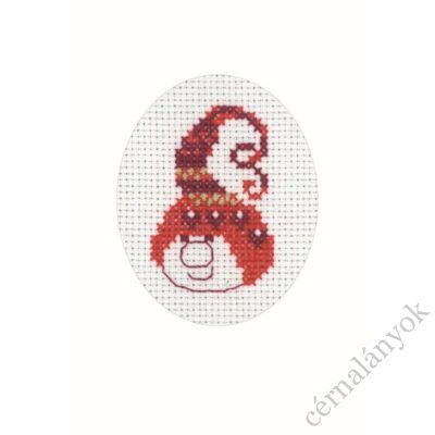 Hímezhető Permin karácsonyi képeslap 07.