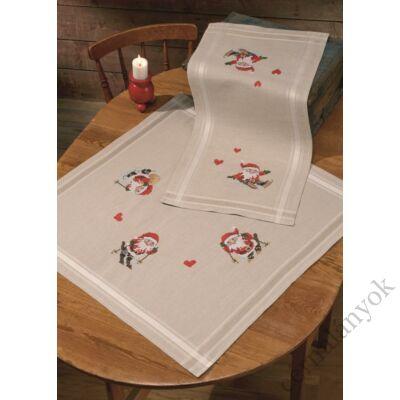 Manók a hóban asztali futó