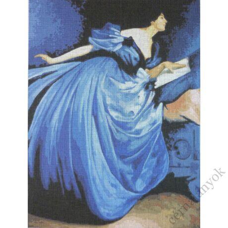 John White Alexander - Althea olvas kék ruhában