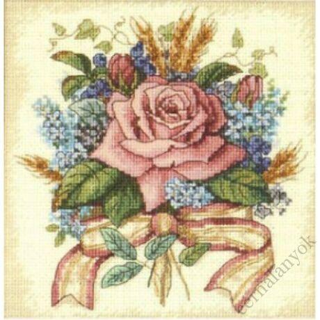 Rózsacsokor - keresztszemes készlet