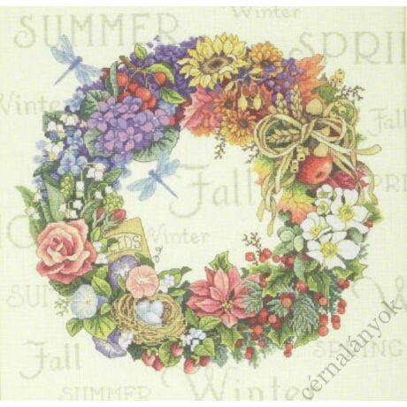Virágkoszorú - keresztszemes készlet