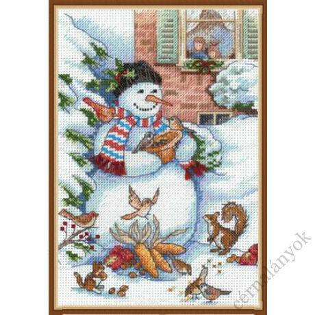 Hóember és barátai keresztszemes készlet