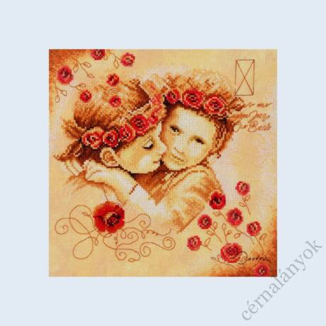 Lanarte: Sweethearts - Loving keresztszemes készlet