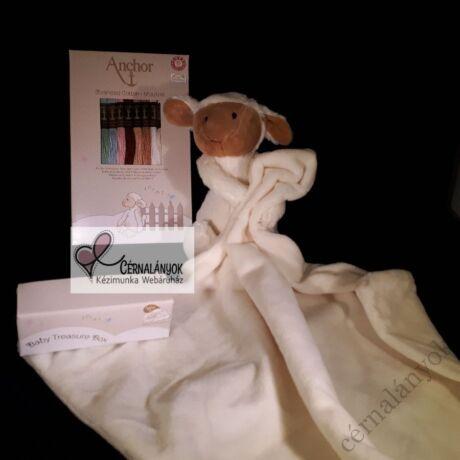 MEZ Plüss bárányos alvókendő Anchor osztott hímzővel és mintaívvel