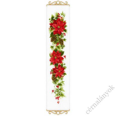Poinsettia / Mikulásvirág keresztszemes készlet