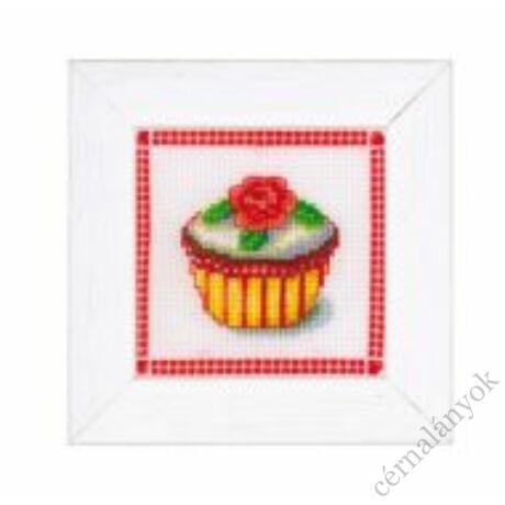 Rózsás muffin