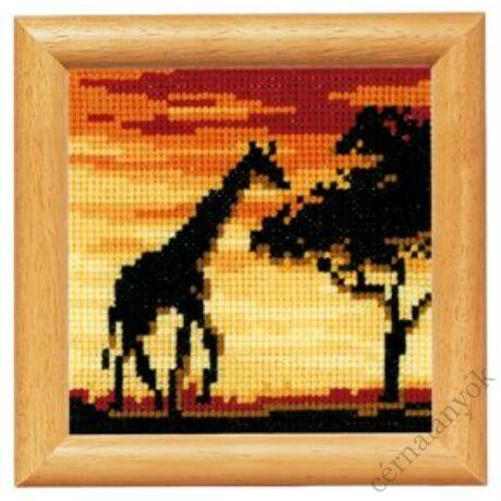 Zsiráf naplementében