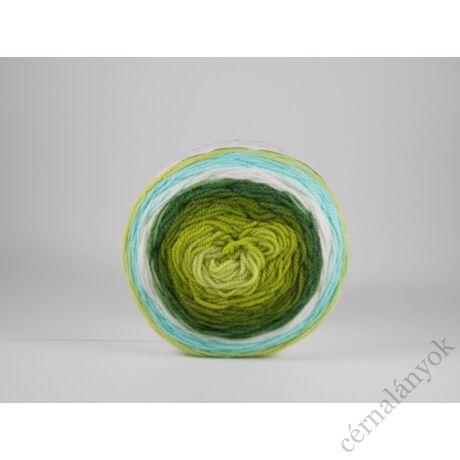 Papatya Cake - színátmenetes kötőfonal 230: zöld-fehér-kék