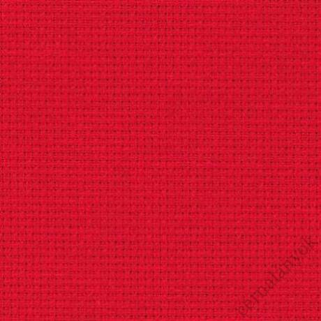 Zweigart Karácsonyi piros Aida (50 cm x 50 cm) - méretre vágott kelme
