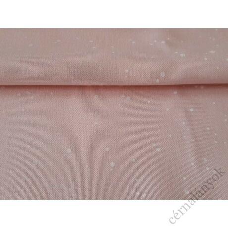 Zweigart Murano Splash - rózsaszín alapon fehér mintás hímzővászon