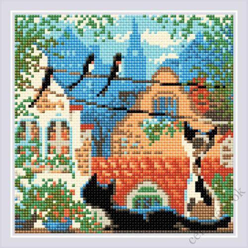 Diamond Mosaic készlet - Macskák város és nyár