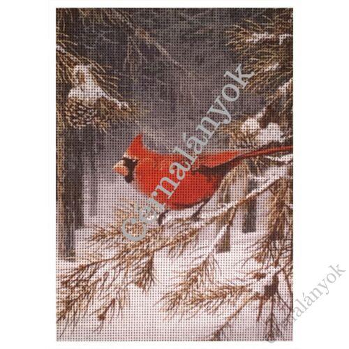 Vörösbegy télen gobelin