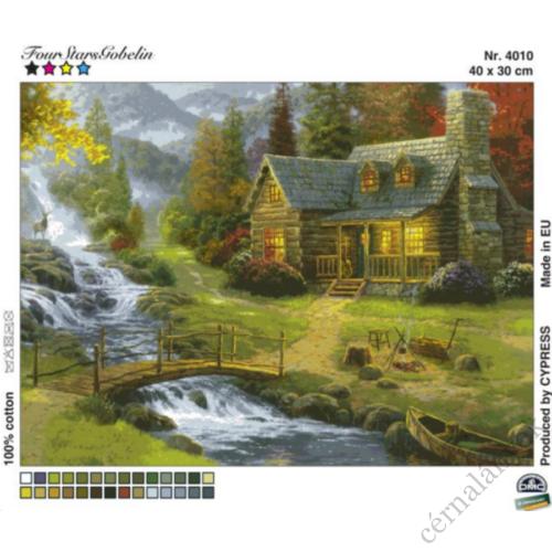 Kicsi ház a patak partján I. - gobelin