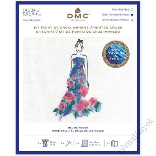 DMC keresztszemes készlet - Ruha rózsával