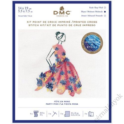DMC keresztszemes készlet - Pink ruha