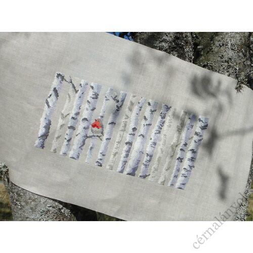 Dmc keresztszemes készlet - nyírfa és madárka