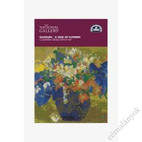 Gauguin - Váza virággal - DMC keresztszemes készlet