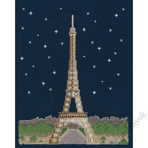 Párizs éjjel - keresztszemes készlet sötétben világítós fonallal