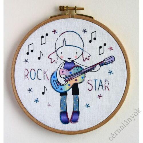Hímzőkészlet gyerekeknek - Rock Star