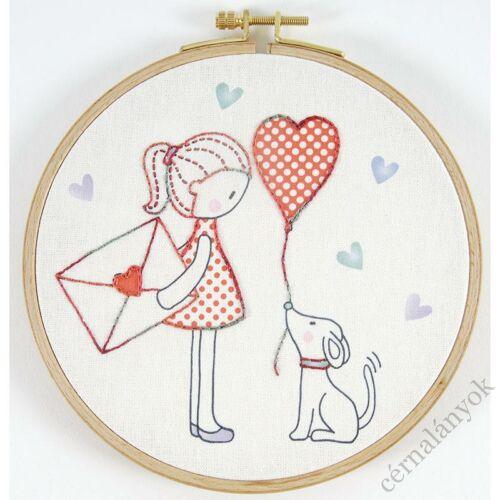 Hímzőkészlet gyerekeknek - A szerelmes levél