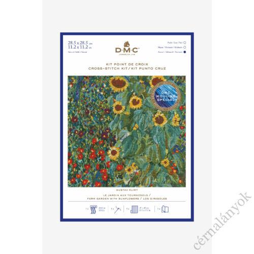 Klimt: Falusi kert napraforgóval - keresztszemes készlet