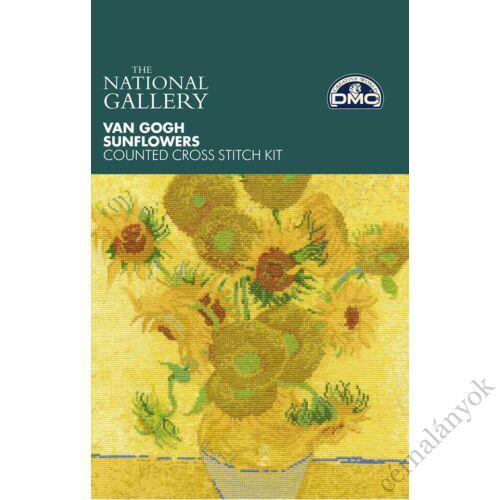 Van Gogh: Napraforgók - DMC keresztszemes készlet