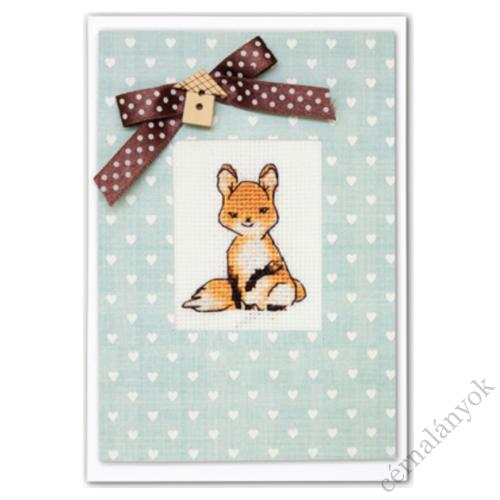 Hímezhető képeslap - róka