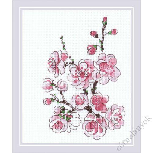Cseresznyevirág ág - Riolis keresztszemes készlet