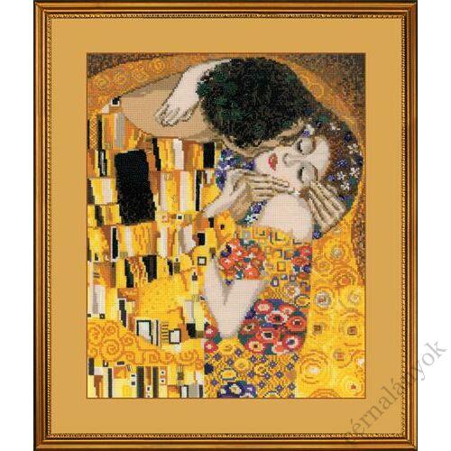Klimt: A csók - keresztszemes készlet